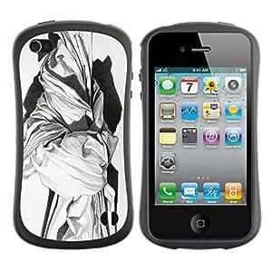 LASTONE PHONE CASE / Suave Silicona Caso Carcasa de Caucho Funda para Apple Iphone 4 / 4S / marble sculpture white black art history