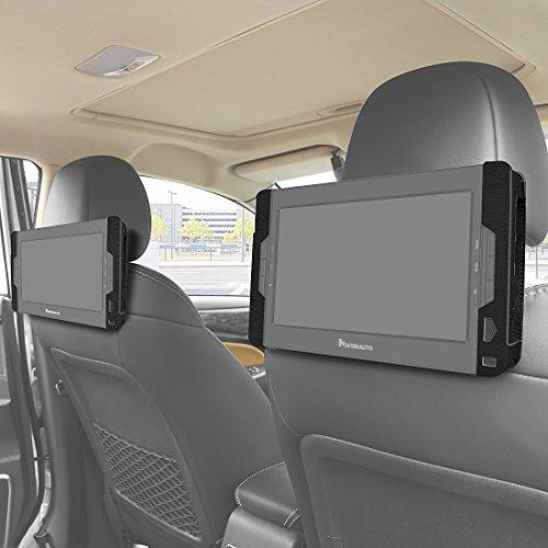 (NAVISKAUTO Dual Car Headrest Mount Holder Bracket Only for NAVISKAUTO 10.1 Inch Dual Screen DVD Player and Dual DVD)