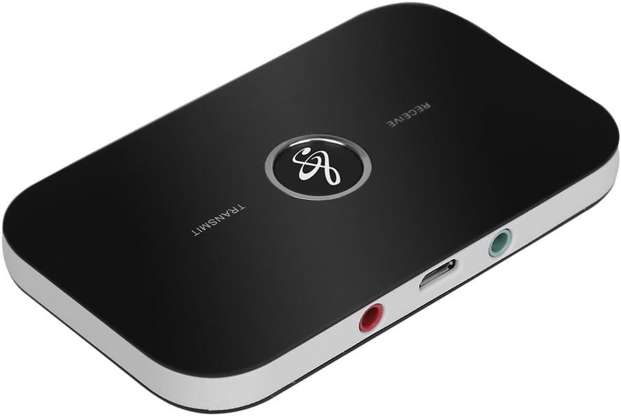 Docooler B6 2 en 1 Transmisor y Receptor Bluetooth Adaptador de Audio Inalámbrico Aux 3.5mm Adaptador de Audio inalambrico Kit de Coche para TV/Sistema Estereo domestico,Auriculares, MP3/MP4,iPhone