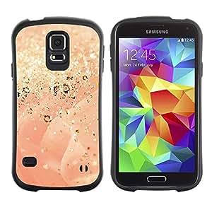 "Pulsar iFace Series Tpu silicona Carcasa Funda Case para Samsung Galaxy S5 , Gold Dust Glitter Rose Bling"""