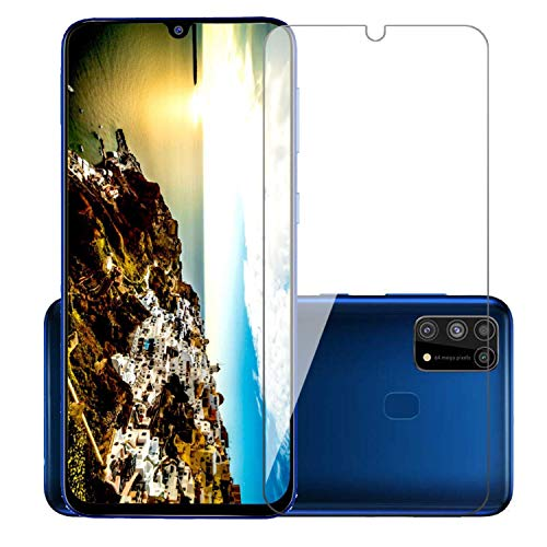 POPIO Full Screen Coverage except edges Tempered Glass for Samsung Galaxy M31/M21 with Easy Installation Kit (Transparen