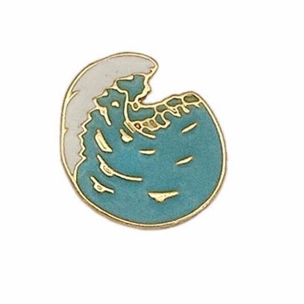 Enamel Pin Badge Souvenir Broches Vintage Sea Wave Broches Badge Vêtements Accessoires (Bleu) TOUYOUIOPNG