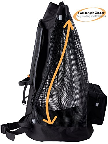 Athletico Scuba Diving Bag - Mesh Travel Backpack for Scuba Diving and Snorkeling Gear & Equipment - Dry Bag Holds Mask, Fins, Snorkel, and More Photo #6