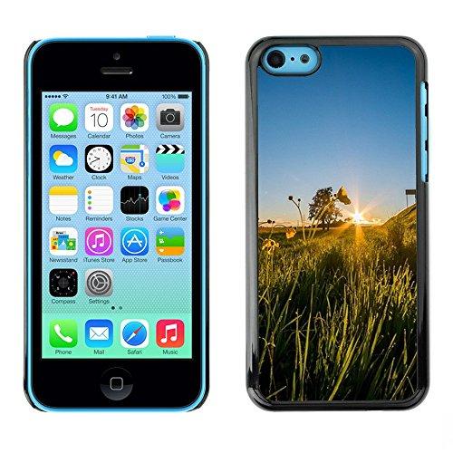 Hülle Case Schutzhülle Cover Premium Case // F00001586 Sonnenuntergang // Apple iPhone 5C