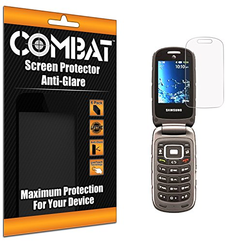 Anti Glare Combat Screen Protectors for Samsung Rugby 4 (Hdx 7 Accesories compare prices)