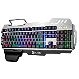 Doco OLER 7pin/PK 900Gaming Keyboard LED Backlight Keyboard with Mobile Phone Holder Wrist Rest Silver