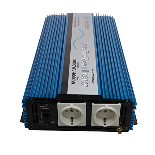 Inverter 230v - AIMS Power European 2000 Watt, 220 Volt / 230 Volt, 12VDC, Pure Sine Power Inverter