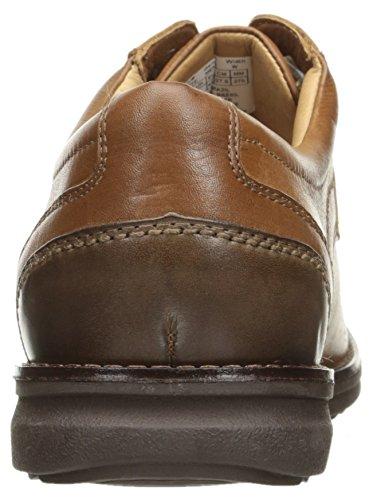 Rockport Mens Premiumklassen Plaintoe Oxford Cognac Läder