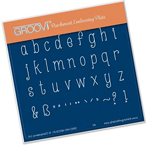 - Groovi Lowercase Letters A6 Plate - Laser Etched Acrylic for Parchment Craft