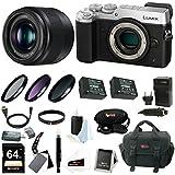 Panasonic Lumix GX8 Mirrorless Camera (Silver) w/25mm f/1.7 Lens & 64GB SD C.