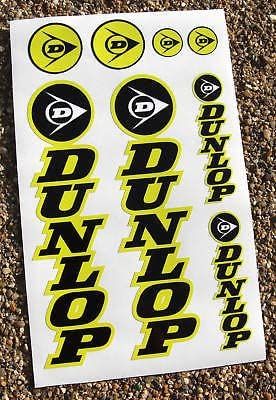 DUNLOP Motorbike Motorcycle Fork Decals Stickers