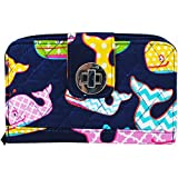 Sea Summer Whale NGIL Quilted Twist Lock Wallet