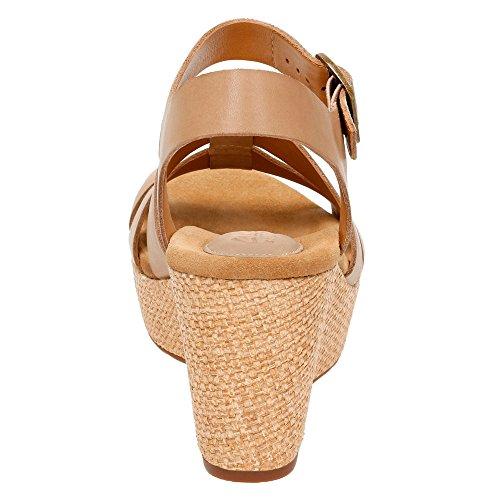 Clarks Caslynn Arpa de tiras de la sandalia Sand Leather