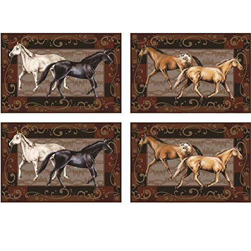 River's Edge 4 Piece Horses Placemat (Inspired Placemat)