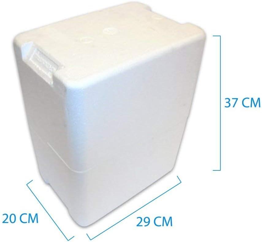 Recipiente de poliestireno Porta Botellas (6botellas de 0,75 litros) para embalaje de vino y aceite. Caja botellero. 2 Unidades.