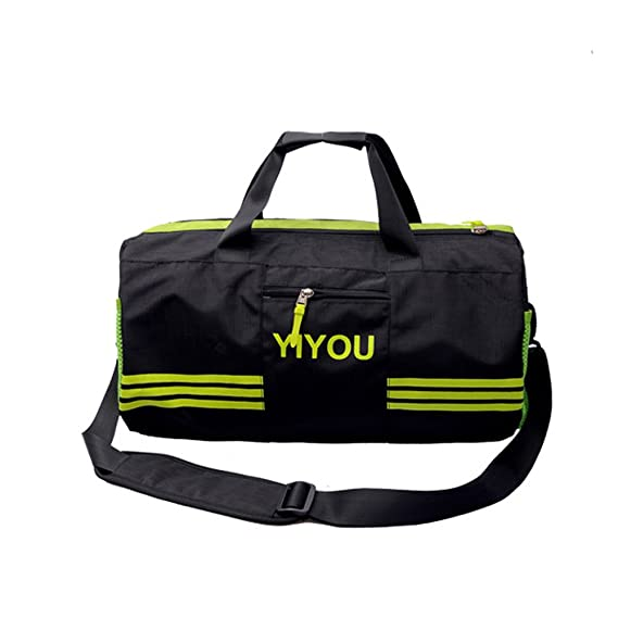 f7d9415f9921 Swim Bag Travel Sports Gym Bag Waterproof with Dry Wet Area Shoes  Compartment for Women Men