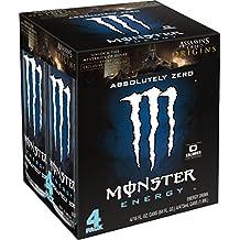 Monster Energy, Absolutely Zero, 16 Ounce (Pack of 4)