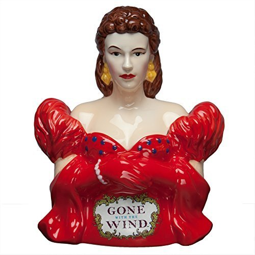 Westland Giftware Gone with the Wind Red Dress Scarlett 10-3/4-Inch Cookie Jar by Westland Giftware by Mueangpan