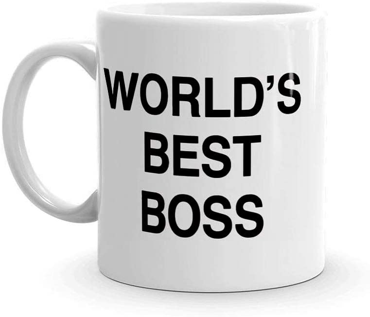 World's Best Boss Funny Coffee Mug - BeBr Bosses Day Gifts Ideas -Novelty Present For My Greatest Boss Male or Female, Men, Great Office Gift Mugs,Birthday,Leaving or Home Daily Use 11 oz Ceramic Mug