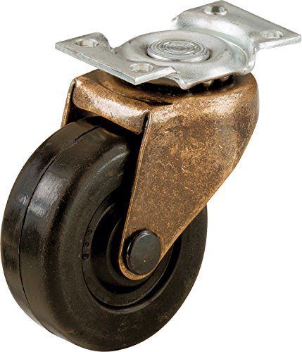 Shepherd Hardware 9346 2-Inch Medium Duty Plate Caster, (Brass Casters)