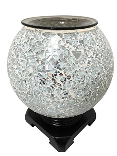 Aurora PME834 Electric Oil Warmer-White Checkered Globe (Star Electric Oil)