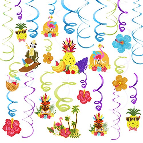 Hawaiian Scene Setter - Phogary 30PCS Hawaiian Party Supplies Tropical