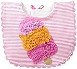 Mud Pie Baby Girl Bib Applique, Multi, One Size