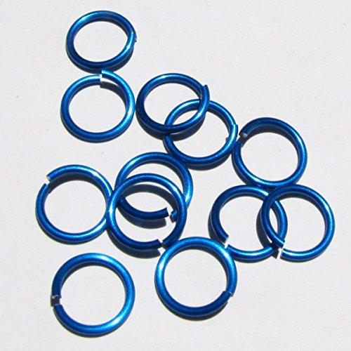 BLUE Anodized Aluminum Jump Rings 150 1/4 16g SAW CUT