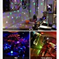 XUNATA 2-Pack Rotating LED Strobe Bulb RGB Multi Changing Color Crystal Stage Light, E27