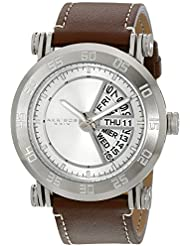 Akribos XXIV Mens AK552SS Stainless Steel Watch with Brown Band