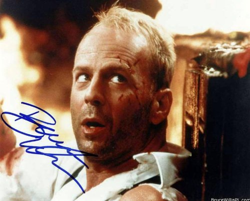 Bruce Willis in The 5th Element Signed Autographed 8 X 10 Reprint Photo - Mint Condition