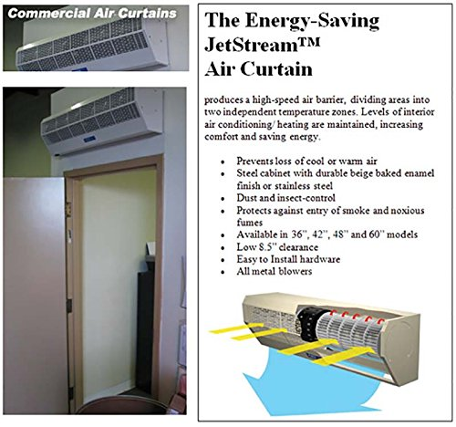 Air Door and Air Curtain - 2 Speeds - 48 in. width - Single Phase - Voltage 110-120 - Stainless Steel by Strip-Curtains.com