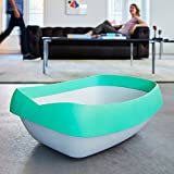 Luuup Litter Box - 3 Sifting Tray Cat Litter Box is Antimicrobial and Easy to Clean with Non-Stick Coating - Stylish, High-Sided Design with Spill Guard