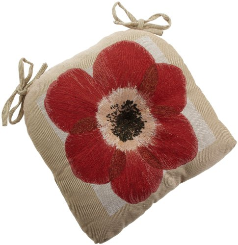 Brentwood Tapestry Floral Chairpad, Red