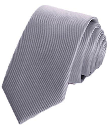 Flairs New York Gentleman's Essentials Neck Tie (Sterling Silver [Stripes Texture])