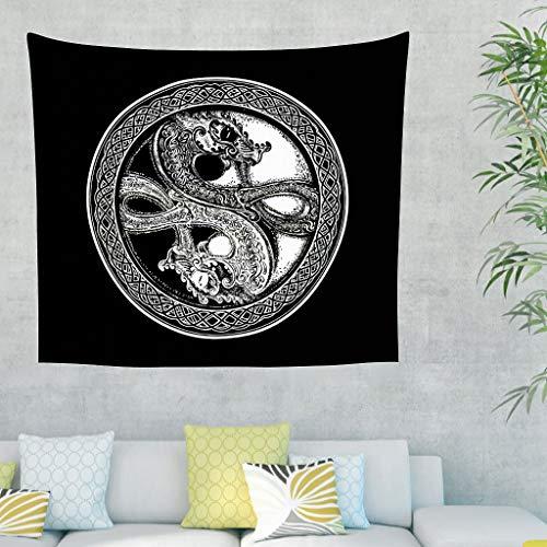 Tapiz de pared con diseño de dragón vikingo de un solo color, con ...