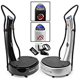 Axis-Plate Dual Motor - Whole Body Vibration Platform - Training And Vibrating - Exercise Fitness Machine - Black