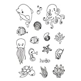 #3: Peyan Dolphin Clear Stamp for DIY Scrapbooking Decor Card Making Crafts Supplies Rubber Silicone for Transparent Rubber Seals Photo Album Wish Decoration