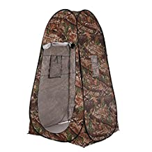 Docooler Portable Outdoor Pop up Tent Camping Beach Toilet Shower Privacy Changing Room (Camouflage)