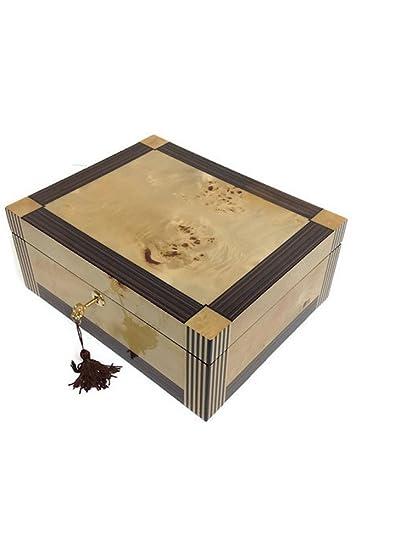 Amazoncom Tizo Designs Jewelry Box Burl Ebony Home Kitchen