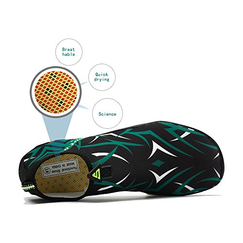 Dry for Beach Water Men Swim Drainage Multifunctional green Shoes Quick Seagull Barefoot Shoes Holes Women Coolloog with 4Y8nCYq