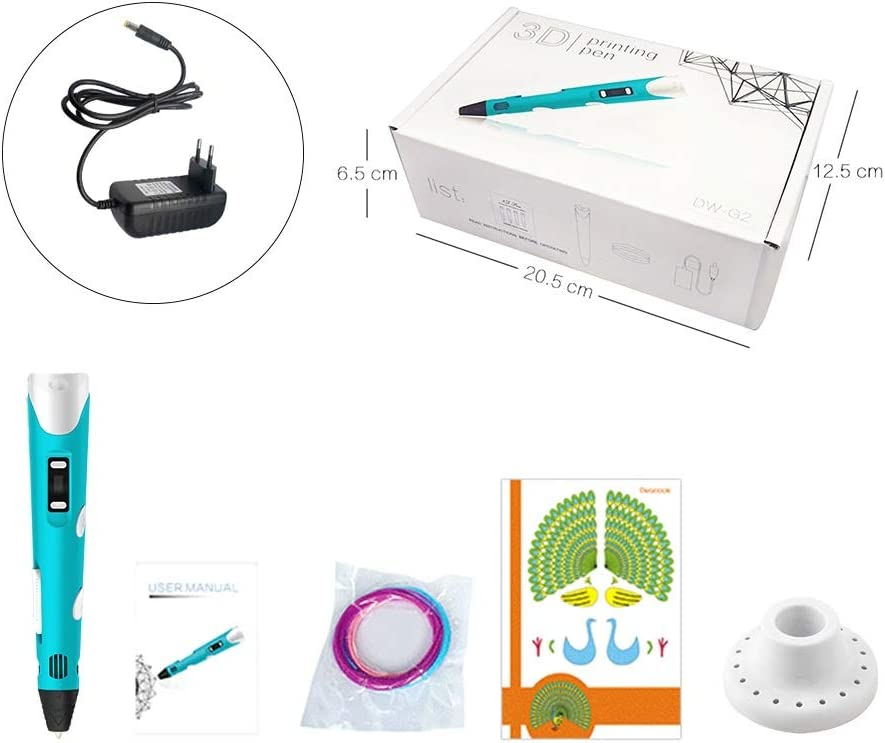 ZHQEUR Pluma de impresión 3D Bolígrafos 3D for Estudiantes y ...