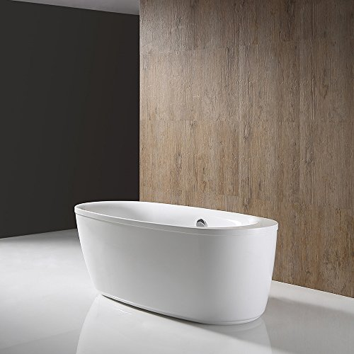 66 Inch Tub (Ove Decors Leni 66 Freestanding Bathtub, 66-Inch)