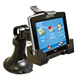 3-in-1 GPS Car Mount , - 3-Way Adjustable Angle for Optimal View - Includes Window Suction Mount, Dashboard Mount and Vent Clips