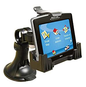 3-in-1 GPS Car Mount for the Magellan RoadMate 2035, 2036, 2036-MU, 2045, 2055, - 3-Way Adjustable Angle for Optimal View - Includes Window Suction Mount, Dashboard Mount and Vent Clips
