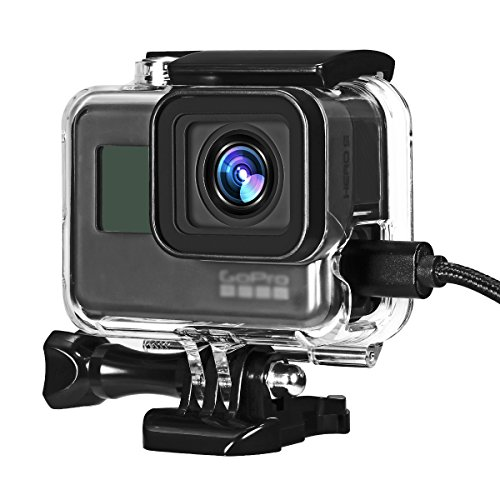 Taisioner Side Open Design Housing Case Protective Skeleton Frame for GoPro Hero5 Hero6 Hero7 Black Silver White Accessories ()
