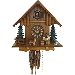 8.5 Chalet Cuckoo Clock with Beer Drinker