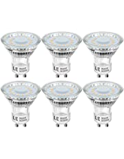LE GU10 LED Bulbs 4W, 50W Halogen Bulb Equivalent, 350lm LED Light Bulb, Warm White 2700K, 120° Wide Beam Angle, CRI>80, AC 220-240V, Pack of 6