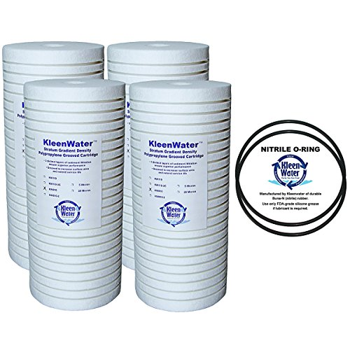 Whirlpool WHKF-GD25BB Aqua-Pure AP810, AP801 Compatible Filter, KleenWater KW810 Replacement Water Filter Cartridge, Set of 4, with 2 Whirlpool WHKF-DWHBB Compatible (Groove Replacement Filters)