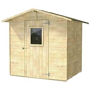 Casita Box Caseta de Madera para Herramientas con Puerta y Ventana 200x 245x 214cm